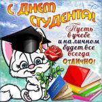 Красивая открытка день студента