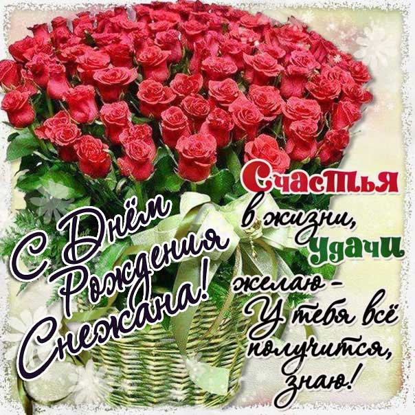 Снежана с Днем рождения картинки поздравить. Цветы, букет, розы, надпись, стихотворение, стих, с бликами, мерцающие, фразы, огромный букет, красные розы, узоры.