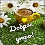 Доброе утро кофе ромашки